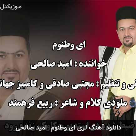 دانلود اهنگ ای وطنوم امید صالحی